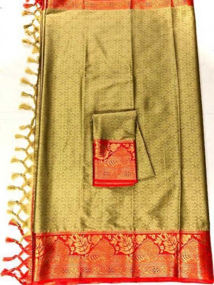New Trending Brown Color Cotton Silk Saree