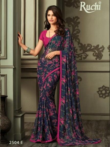 Eye-Catching Look Multi color Georgette Printed Saree