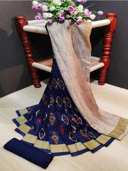 Latest Modern Look Multi Color Pashmina Silk  Saree