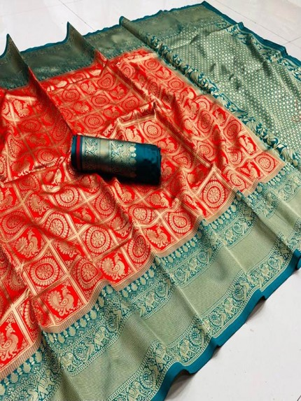 Classic Soft Cotton weaving Saree with Beautiful weaving Border