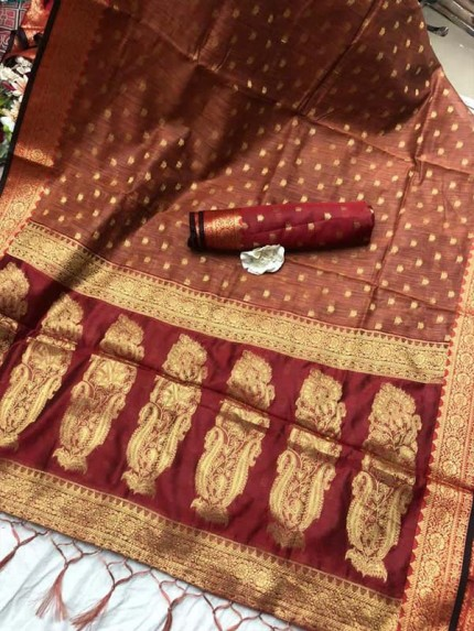 Superior Look Chanderi Butti Saree with rich pallu